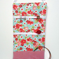 Hair Accessory Organizer -- Floral & Gingham Barrette Holder