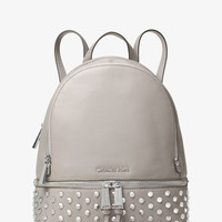 Rhea Medium Studded Leather Backpack | Michael Kors