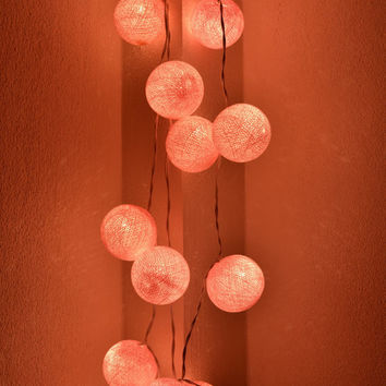 Holiday Lights Christmas Garland Lights Cotton Balls Hanging Fairy Lights Patio Wedding String Lights (20 Lights/Set)