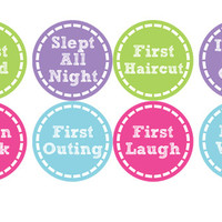 Monthly Baby Stickers Milestone Sticker Birthday Month Pregnancy Stic