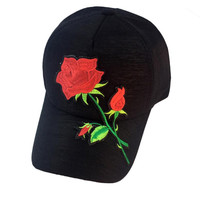 2017 Unisex Baseball Cap women men lovely Applique Floral Baseball Cap casuan Snapback Flat Hat high quality Casquette Gorras #5