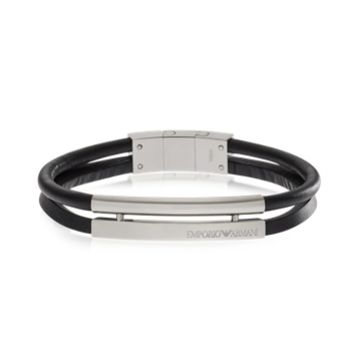 Emporio Armani Designer Men's Bracelets Stainless Steel and Leather Men's Bracelet