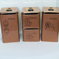 Copper Lincolware Canister set