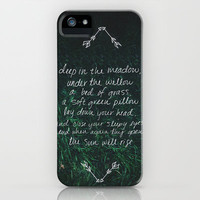 Rue's Song (Hunger Games) iPhone Case by Leah Flores | Society6