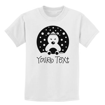 Personalized Matching Polar Bear Family Design - Your Text Childrens T-Shirt