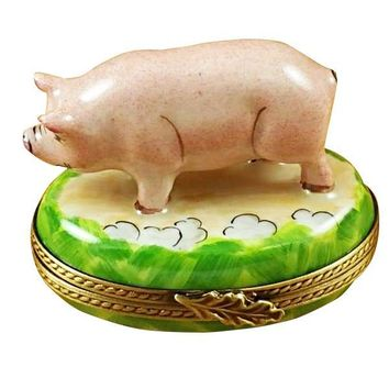 Pig Porcelain Limoges Box from France Rochard