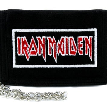 Iron Maiden Tri-fold Wallet w/ Chain Occult Clothing