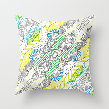 *** Whimsical TATTOO  Wormland ***  Throw Pillow by M✿nika  Strigel	 | Society6