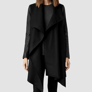 Womens Hyde Monument Coat (Black) | ALLSAINTS.com