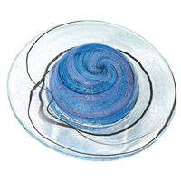 Saturn Rings Planet Capricorn Hand Blown Glass Paperweight 3H