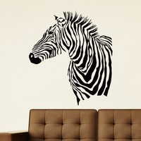 Wall Decal Vinyl Sticker Wild Animal Zebra Decor Sb457
