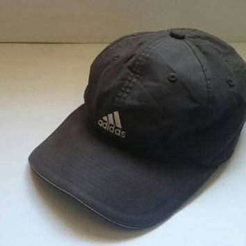 Vtg 90s Black Adidas Equipment Headwear logo Snapback Cap
