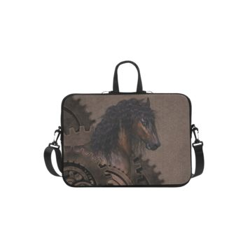 Personalized Laptop Shoulder Bag Steampunk Horse Handbags 13 Inch