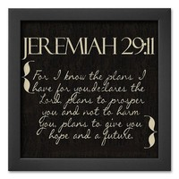 Art.com ''Jeremiah 29:11'' Framed Art Print by Taylor Greene