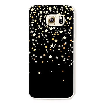 Samsung Galaxy S5 Stars Case Hard Plastic Black Galaxy S5 Back Cover Cute Samsung S5 Cover Starry Night S543
