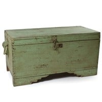 Antique Solid Panel Trunk - Trunks & Storage - Bedroom