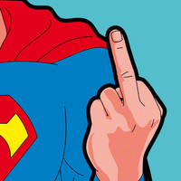 The secret life of heroes - SuperFinger Art Print by Greg-guillemin