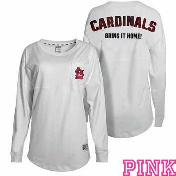 St. Louis Cardinals Victoria's Secret PINK® Bling Varsity Crew - MLB.com Shop
