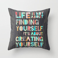 Create Yourself Throw Pillow by Jacqueline Maldonado | Society6