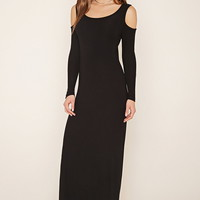 Open-Shoulder Maxi Dress