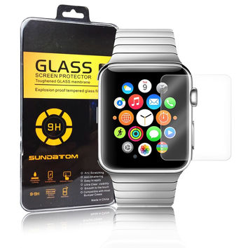Ultra thin 9H HD Tempered Glass Screen Protector For Apple Watch 38mm 42mm Protective Screen Film