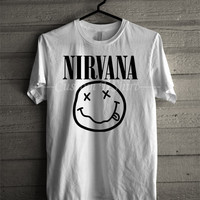 Nirvana Unisex Tee Smiley -SWD Unisex -SWD Unisex T- Shirt For Man And Woman / T-Shirt / Custom T-Shirt