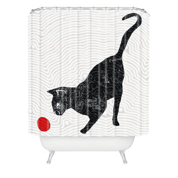 Randi Antonsen Playing Cat Shower Curtain