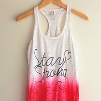 Stay Strong Tie Dye Tank Top