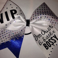 Personalized custom cheer bow