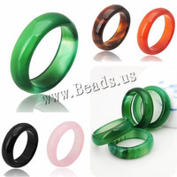 Natural Agate jade Crystal jewelry engagement wedding rings for women and men Love Christmas gifts bijoux Natural Stone Ring