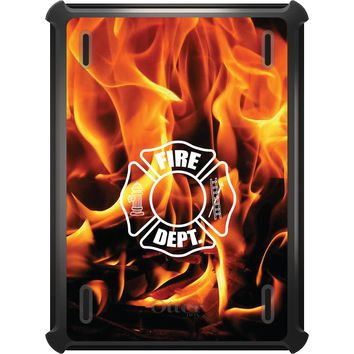 DistinctInk™ OtterBox Defender Series Case for Apple iPad - Flames Fire Department