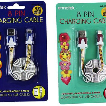 Ennotek Emoji 8 Pin Cable - CASE OF 36