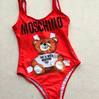MOSCHINO One Piece Trending Bikini Set Bathing Suits Summer Beach Swimsuit Swimwear Vacaton Holiday