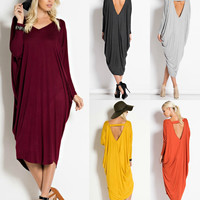Gathered Side Boho Maxi Dress in 6 Colors