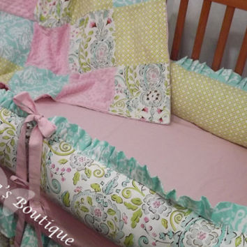 Custom Posh Ruffled with Triple Tiered Crib Skirt Luxury Crib Bedding Set CHOOSE & CUSTOMIZE