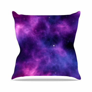 "Chelsea Victoria ""Infinity "" Purple Fantasy Outdoor Throw Pillow"