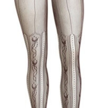 Vertical Lace Tights