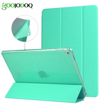 For iPad Pro 9.7 Case, For iPad 4 2 3 Cover PU Leather+Glitter Silicone Soft Back for iPad 2 Case Smart Auto Sleep/Wake Up