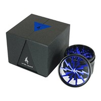 Thorinder 4 Piece Herb Grinder By After Grow Crusher Premium Quality Aluminium with Pollen Catcher&free Scrapper (Silver)