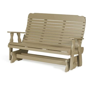 Leisure Lawns Amish Made Recycled Plastic Easy Glider Chair Model #504 - Ships FREE within 2 to 3 Weeks