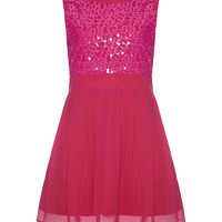 Yumi Girls Pink Sequin Dress - Girls | zulily