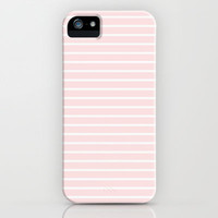Pink Stripes iPhone & iPod Case by Electric Avenue