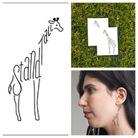 Giraffe  temporary tattoo Set of 2 by Tattify on Etsy
