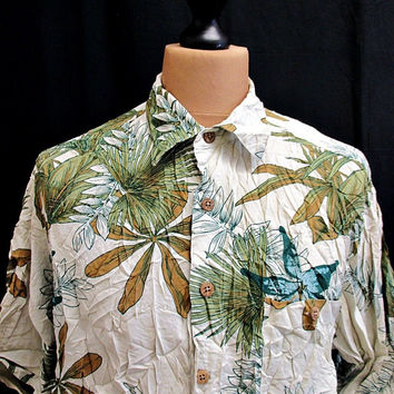 Vintage Summer Surf Hawaiian Shirt Large