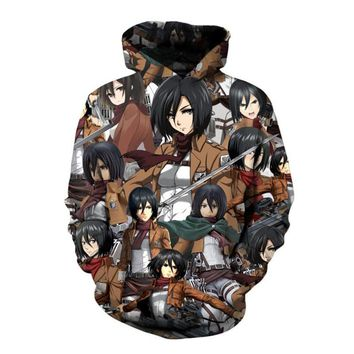 Cool Attack on Titan SOSHIRL  Hoodie Cool Japan Anime Pullover Funny Comic 3D Sweatshirt Punk High Street Tops Corps Family Outfit AT_90_11