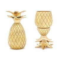 Silver Copper or Gold Pineapple Shot Glass Set of 2