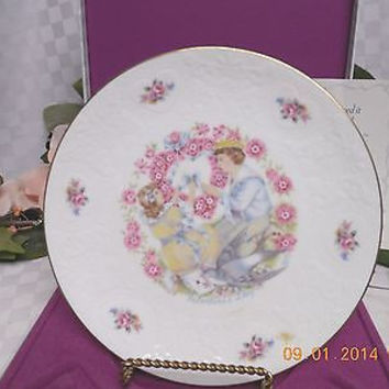 Royal Doulton Valentines Day Victorian Children Boy & Girl Collectors Plate 1977