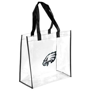 Philadelphia Eagles Clear Reusable Plastic Tote Bag NFL 2017Stadium Approved
