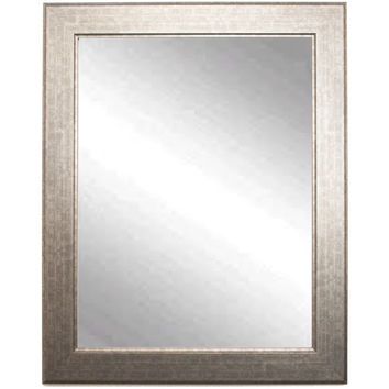 "Brandt Works Subway Silver Wall Mirror BM014S 22""x32"""