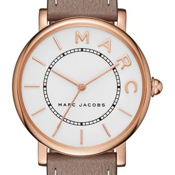 MARC BY MARC JACOBS Roxy Leather Strap Watch, 36mm   Nordstrom